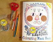 Colouring Mask Book, 10 fun masks to colour and wear