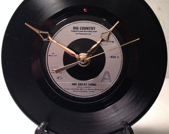 "Recycled BIG COUNTRY 7"" Record / One Great Thing Record Clock"