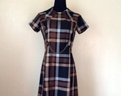 RESERVED 50% OFF 1950s-1960s Plaid MiniDress by Royal Miss