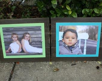 Set of Two 11x14 Frames, Distressed Frame, 11x14 Picture Frame, Rustic Frames, Set of Frames