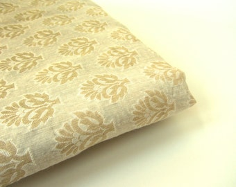 White gold white small tree Varanasi cotton silk fabric nr 395 fat quarter