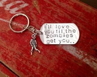 Zombie Apocalypse keychain zombies geekery walking dead