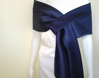 Navy Blue  shawl , cover-up, bolero , stole