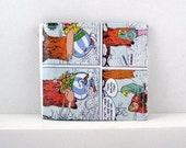 recycled paper Asterix comics unisex wallet coins, bills, cards