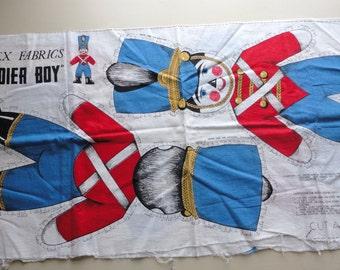 valtex fabrics soldier boy vintage cotton fabric panel