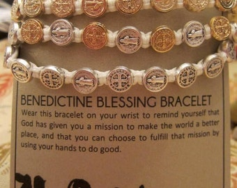 Holiday Sale My Saint My Hero Saint Benedictine Blessing Bracelet Loved One