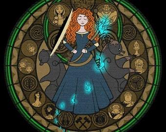 Cross Stitch Pattern for Merida-Brave Kingdom Hearts Princess