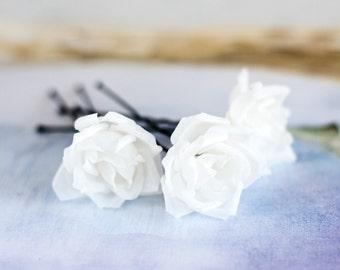 71_Silk hair flowers, Wedding hair pins, Hair flowers roses, Rose pin, Hair flowers, Wedding hair flowers, Hair accessories pins, Bride.