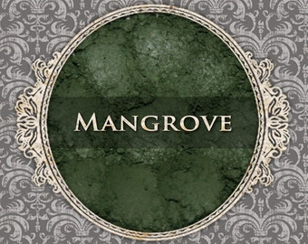 MANGROVE Matte Eyeshadow: Samples or Jars, Deep Moss Green, Loose Powder Eyeshadow, Cosmetic Pigment, VEGAN Makeup, Ships Out in 4-7 Days