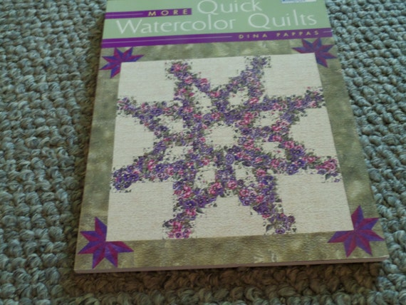Book Cover Watercolor Quilt ~ Quilt sewing patterns book quick watercolor quilts by