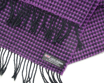 Vintage 100% Cashmere  Scarf Made in Scotland