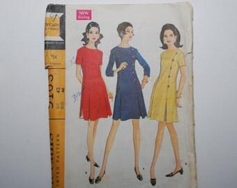 Vintage McCalls Dress pattern 9163 Size42