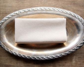 Organic Unbleached Cotton Muslin Handkerchiefs Ultimate Size Set of 4,  Eggshell Border  Facial Tissue Alternative - Eco Friendly