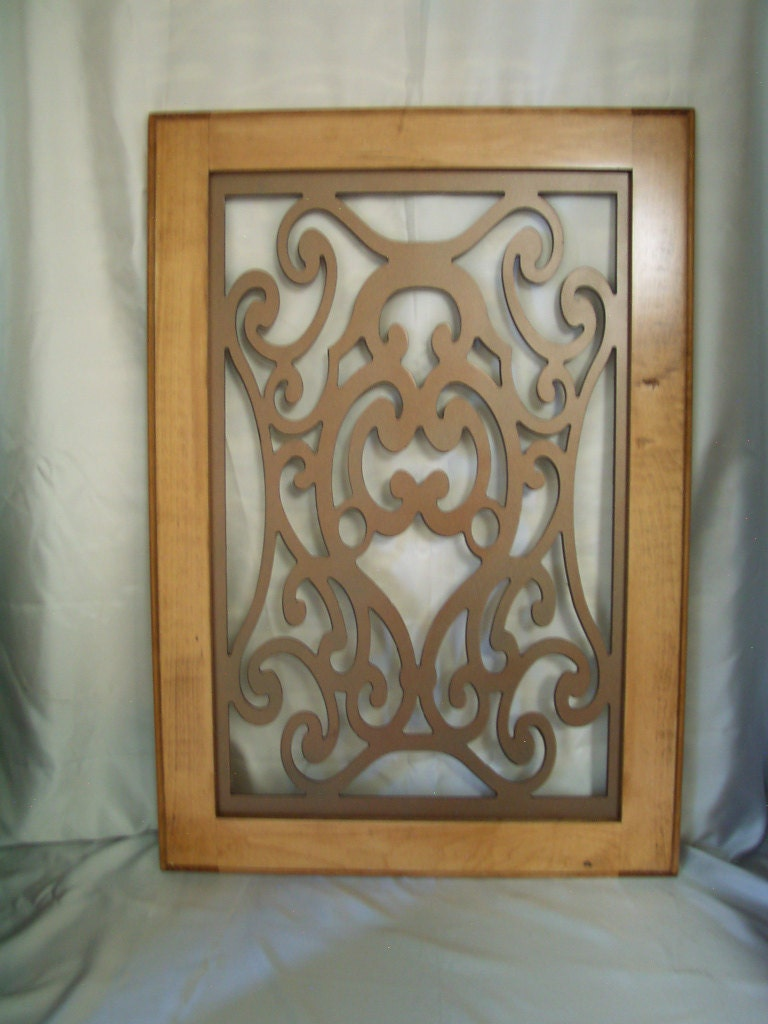 Tobias Cabinet Door Panel Insert In Decorative Iron