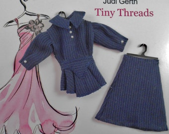 1940's 1 Inch Scale Dress for Your Dollhouse