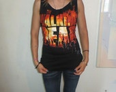 The Walking dead Zombie hand shredded T Shirt custom OOAK Open Back