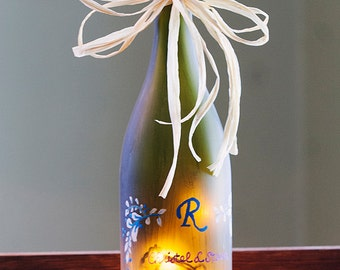 Personalized Wedding Gift -  Custom Lighted Wine Bottle - Unique Engagement Gift - Housewarming, Wine Lover, Anniversary Gift