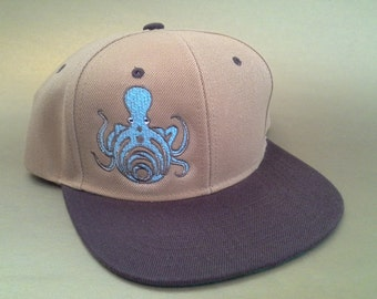 Bassnectar Octopus Snapback Hat made to order flat brim FREE SHIPPING