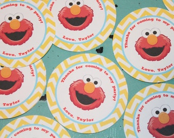 SESAME STREET INSPIRED Happy Birthday or Baby Shower Favor Tags or Stickers One Dozen {Set of 12} - Party Packs Available