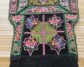 Vintage Hmong baby carrier , Handmade tapestry textiles, Hmong textile art,