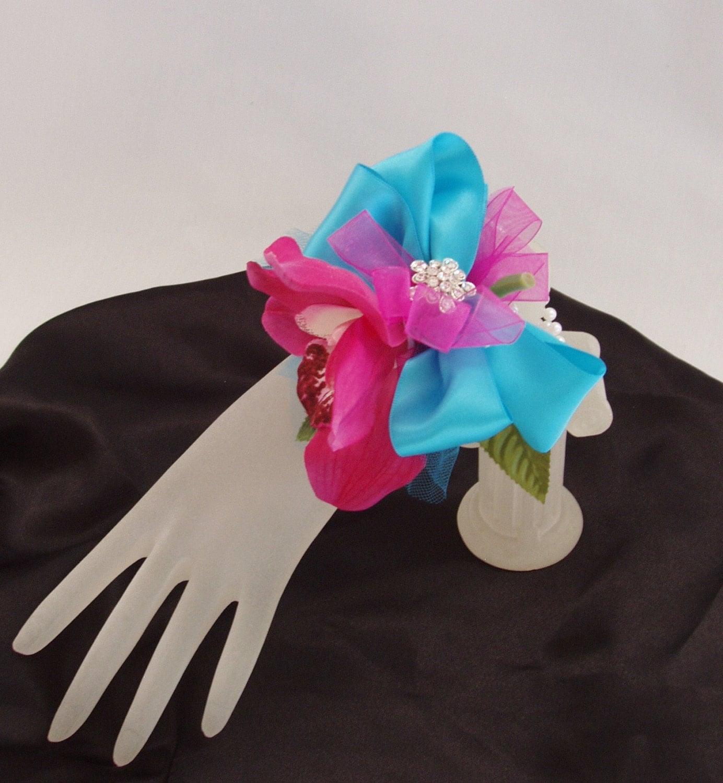 Cymbidium Orchid Wrist Corsages: WRIST BROOCH CORSAGES Cymbidium Orchids Set Of 4 Jeweled