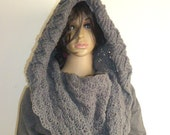This is reserve to Phyllis ,4 Handmade, Unique , Hooded Cowl  Scarf