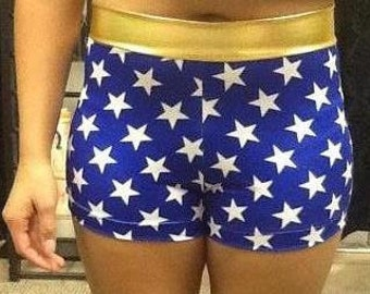 Wonder Woman spandex running shorts