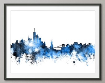 New York City Skyline, Art Print (1118)