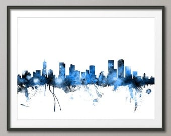 Denver Skyline, Denver Colorado Cityscape Art Print (1320)