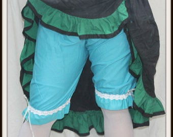 Renaissance Cosplay Bright Turquoise Leg Tie Bloomers