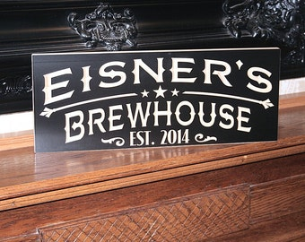 Craft Beer Sign, Custom Bar Sign, Custom Pub Sign, Custom Beer Sign, Gift For Him, Personalized Sign, Guy Gift, Benchmark Signs Maple MC5