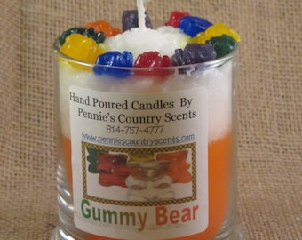 Gummy Bear jar Candles