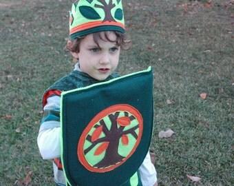Woodland Prince Knight Shield - EcoFriendly Adventure Gear - Kid Costume