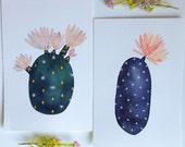 Cactus Painting - Succulent Watercolor Art - Archival Print by Marisa Redondo
