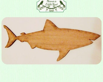 Shark/ Great White  (Small) Wood Cut Out -  Laser Cut