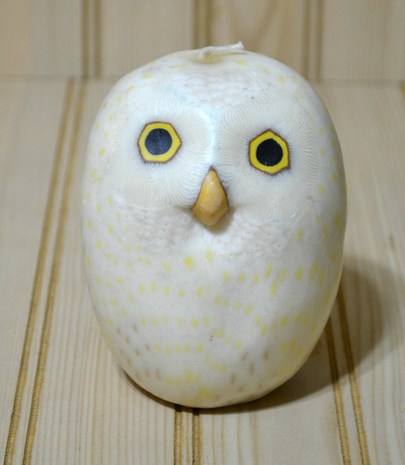 Vintage Owl Candle White Barn Owl Home Decor Decorative