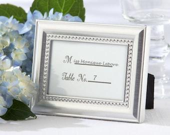 Silver Picture Frames 50 Set - Place Card Holders - Wedding Favors Party Favor Table Number Metal Frame - Wedding Bridal Shower
