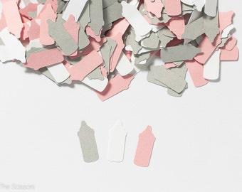 Girl Baby Shower, Baby Shower Confetti,  Bottle Confetti, Pink Baby Shower