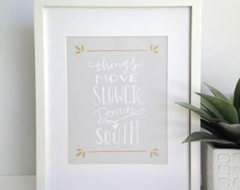 8x10 - Southern Print - Southern Saying
