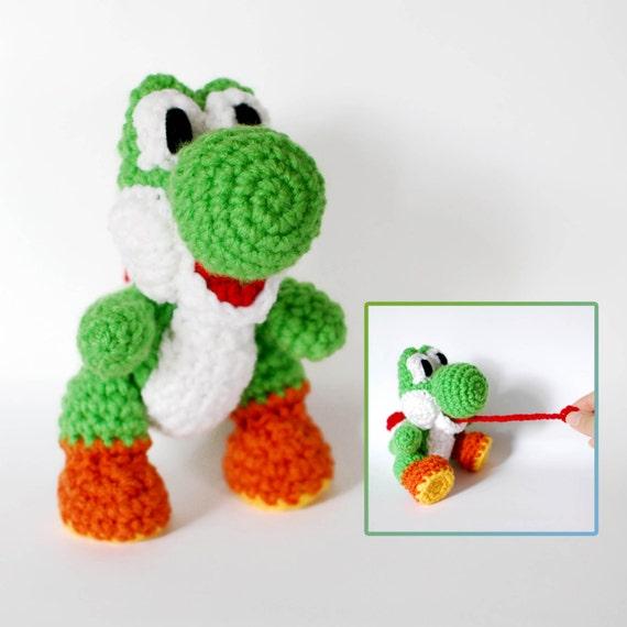 Amigurumi Yoshi Big : Yoshi Crochet Amigurumi Plush Doll Inspired in Yoshis