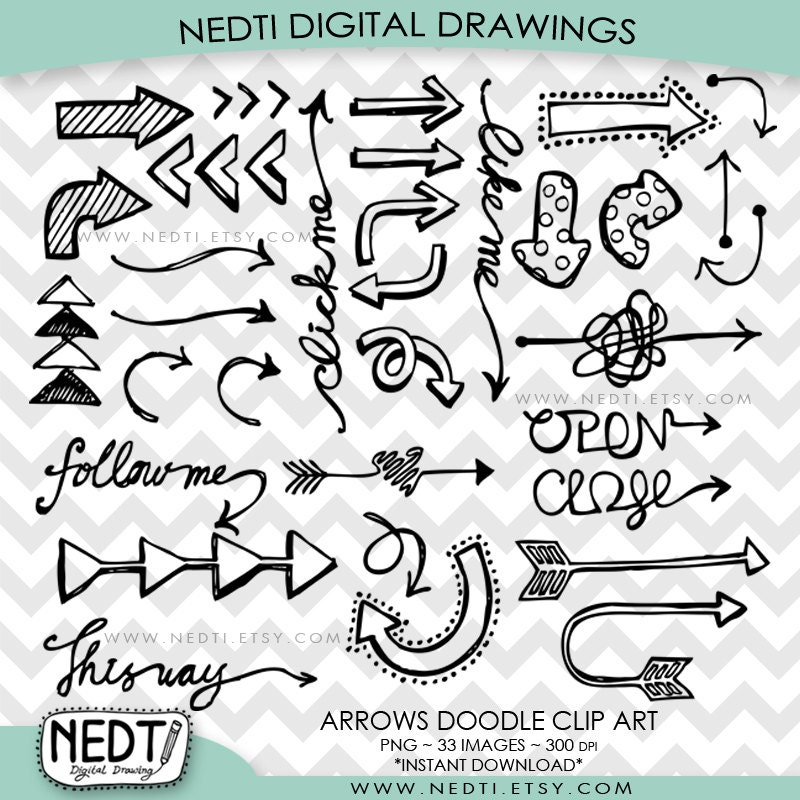 Aztec Arrow Clip Art Arrow Doodle Clip Art