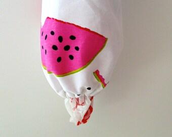 Watermelon Plastic Baggie Holder - Bag Dispenser - Recycle Bag Holder