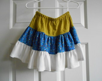 Green-Blue-White Skirt  - 0.01 Shipping Cost