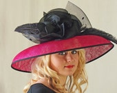 Black and Magenta Derby Hat