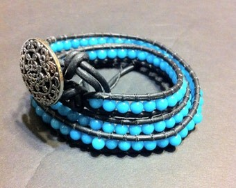 Mountain Jade Wrap Bracelet