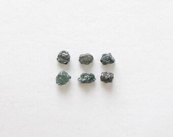 Natural Rough Bluish Diamond, Uncut, lot (6) of 0.63 carat