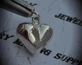 Genuine Sterling Silver Puffy Heart Pendant