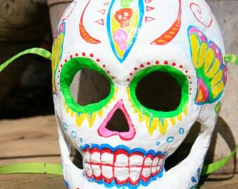 Festive Calacas Calavera-Dia De Los Muertos mask decoration