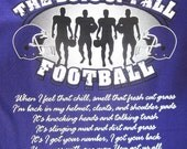 Custom Personalized The Boys of Fall Football T-Shirt in Youth Sizes XS - XL Available in Most Team Colors