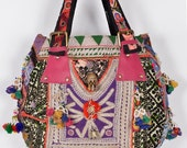 Vintage Banjara Hand Bag Hobo Tote Ethnic Tribal Gypsy ID43824